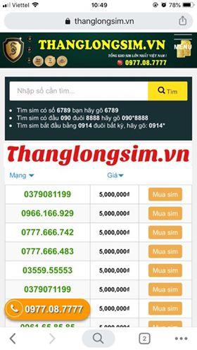 sim thang long